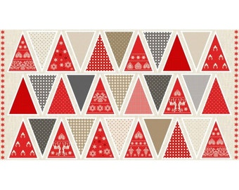 Scandi garland fabric panel make your own christmas Make your own christmas bunting