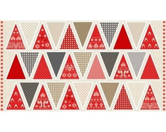 Scandi Garland Fabric Panel Make Your Own Christmas: make your own christmas bunting