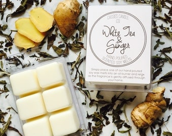 White Tea & Ginger Scented Soy Clamshell Melts