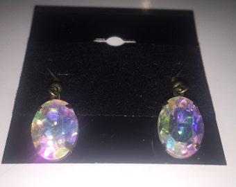 Pretty Vintage Crystal Dangle Earrings
