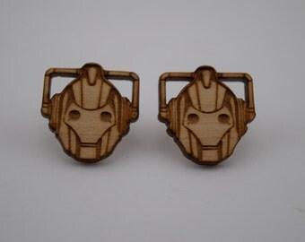 Doctor Who Cybermen / Cyberman earrings