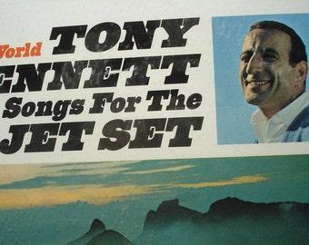 SEALED Tony Bennett vinyl record, Songs For The Jet Set record album, vintage vinyl record