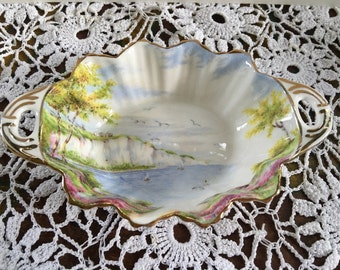 "Vintage Paragon ""Cliffs of Dover"" Fine Bone China Dish, Vintage China, Gifts for Mom, collectable china, butter dish, trinket dish"