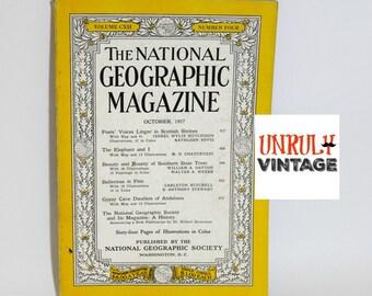 Single Issue Vintage National Geographic Magazine (October 1957)