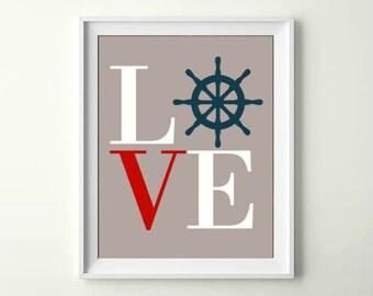Nautical Nursery Love Nautical Decor Nautical Wall Decor Nautical Nursery Decor Nautical Prints Nautical INSTANT DOWNLOAD