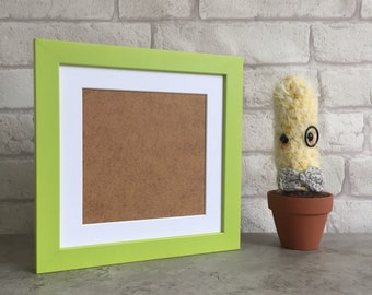 8 x 8 Inch Wooden Picture Frame in Green