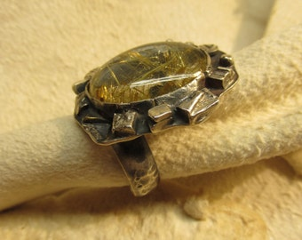 Nest of nature. Sterling  ring size 7.