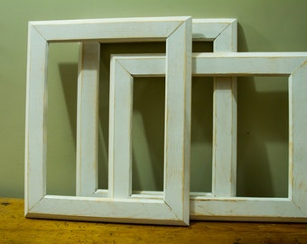 White washed custom handmade frames