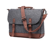 Wool Messenger Bag with Padded Laptop Holder (SS731)