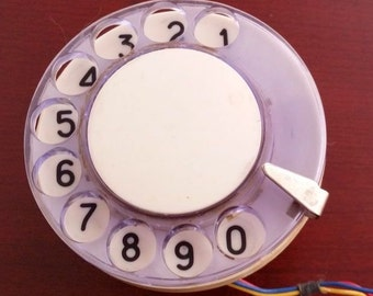 Phone Dial, Rotary Desk Telephone Dial with Numbers, Stimpank Craft, Made in USSR