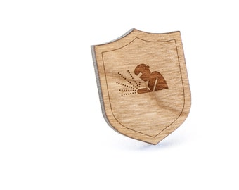 Welder Lapel Pin, Wooden Pin, Wooden Lapel, Gift For Him or Her, Wedding Gifts, Groomsman Gifts, and Personalized