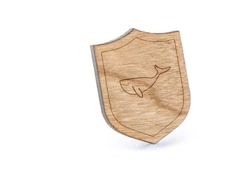 Whale Lapel Pin, Wooden Pin, Wooden Lapel, Gift For Him or Her, Wedding Gifts, Groomsman Gifts, and Personalized