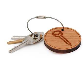 Nail Keychain, Wood Keychain, Custom Keychain, Gift For Him or Her, Wedding Gifts, Groomsman Gifts, and Personalized