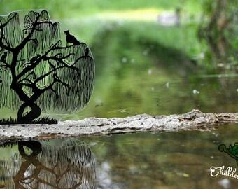 DXF SVG Mystery Series Fusselfreies Tree Birdcage Key Cat Fox Moon Stars Chain Silhouette Cricut Cameo Portrait Cutting File