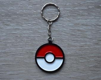 Pokemon Pokeball Keyring Keychain Bag Clip