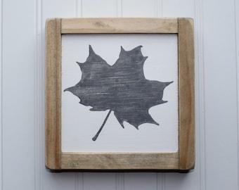 Leaf Wood Sign, Fall Sign, Leaf, Rustic