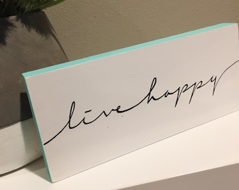 Live Happy - Mini, Inspirational Decor, Modern