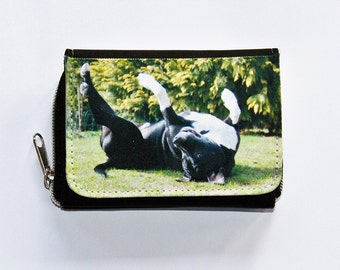 Coin purse wallet with dogs motif (American Staffordshire Terrier / Pitbull)