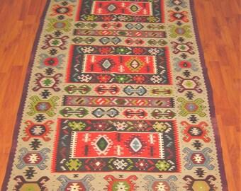 Sharkoy kilim 70x40 inch & 180x104cm wool kilim rug