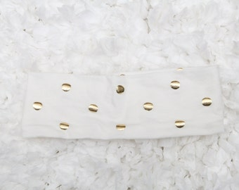 Gold polkadot Headband