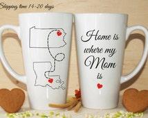 Long distance mom-Home is where my mom is mug-Gift for mom-Mom mug-Long distance mug-Long distance Mom gift-Mom is mug-Mother mug-Mother