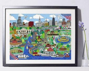 Chicago Waterfront Art Print