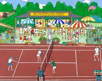 Tennis Tournament Art - Home Decor - Pat Singer's New York