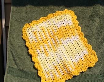 Yellow an White Dish Cloth