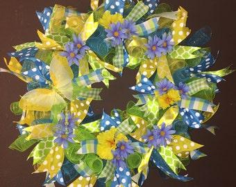Spring Deco Mesh Wreath