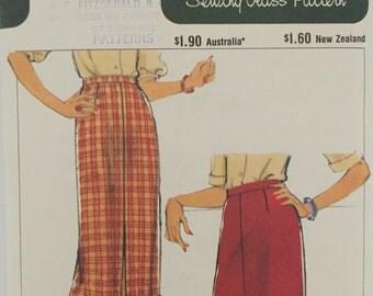 Vintage Style no. 2754 Misses Skirt Size 12 Inverted Pleat Front Split