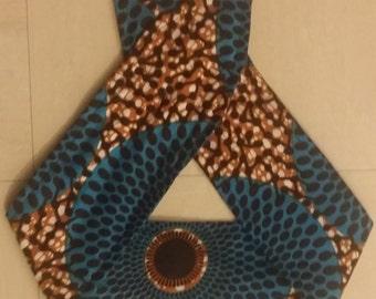 African print rockabilly headband
