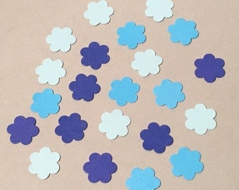 225 Blue Confetti Birthday Confetti Baby Confetti Shower Confetti Flower Confetti Blue Flowers Birthday Girl Garden Party Confetti