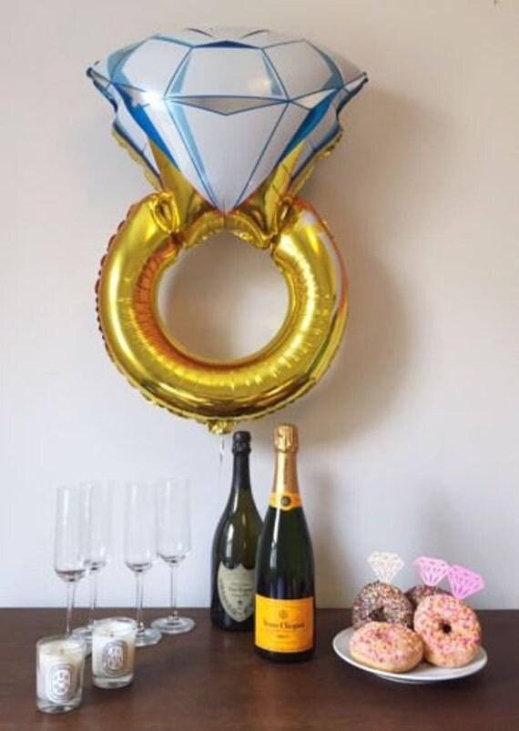 37 quot gold jumbo ring balloon engagement balloon