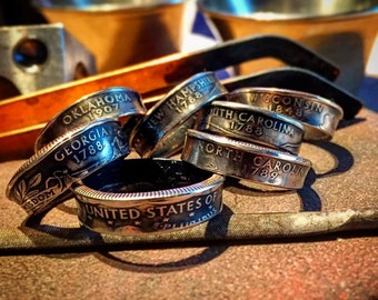 State Quarters & Custom Coin Rings: Made-To-Order