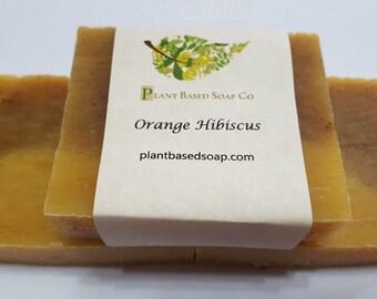 Orange Hibiscus Soap Bar