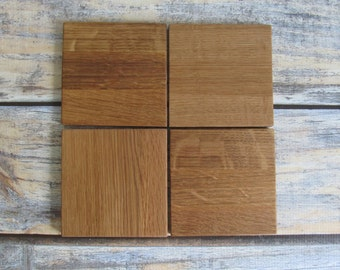 Wood Coasters For Drinks - Wooden Coasters - Christmas Hostess Gifts - Wine Barrel Gifts - Coaster Set - Groomsmen Gift - Man Cave Bar