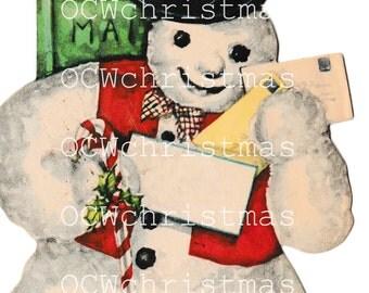 Vintage Snowman Clipart Etsy