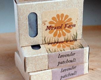 Lavender Patchouli - organic vegan soap with essential oils