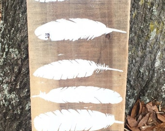 LOVE Feather Pallet sign