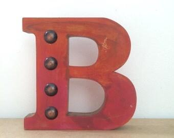 Wooden  letters, Standing letters, Letter B, Wooden letters for shelves