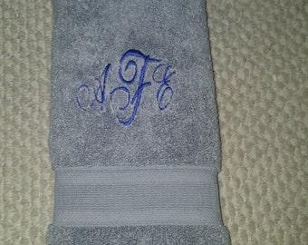 Monogram Embroidered Hand Towel