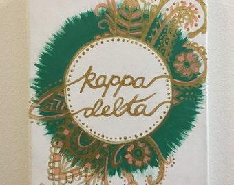 Kappa Delta stretched canvas