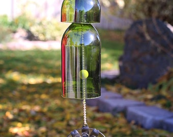 Bottle Windchime with Sun Adornment