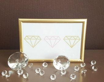Diamonds print