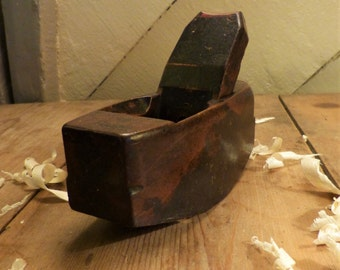 "7"" Convex Wooden Box Plane/Old Woodworking Tool/Old Wooden Plane"