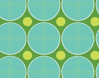 """Erin McMorris """"Summersault-Ping Pong"""" in Aqua  Cotton Sateen  54/55"""" Wide"""