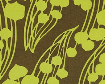 "Amy Butler ""Forest Fiddle Heads"" collection  Moss Organic Cotton Fabric"