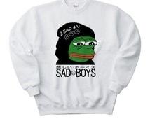 Sad Boys Pepe the Frog Meme Sweatshirt