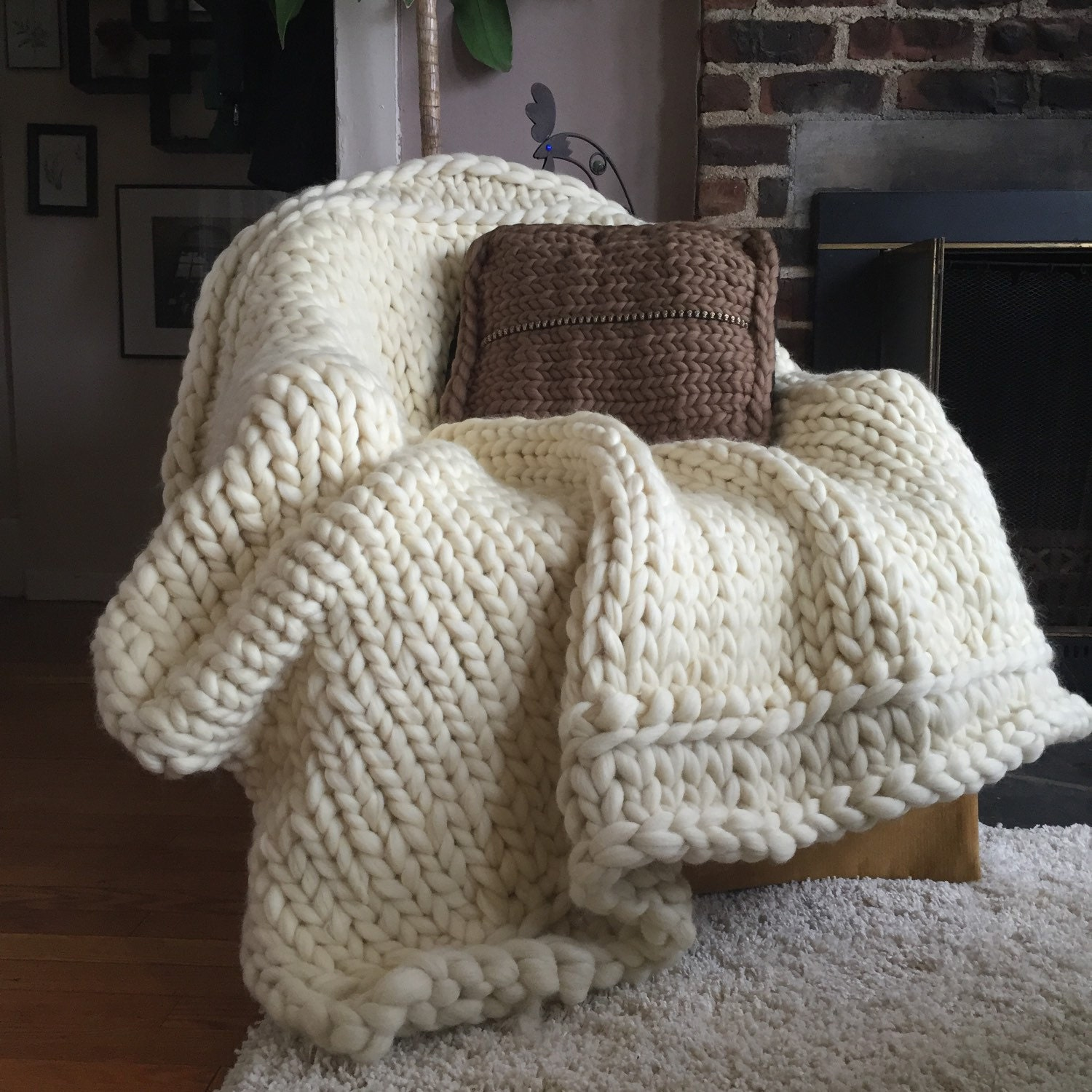 Chunky Knit Blanket Chunky Knit Throw. The Bourne Blanket: