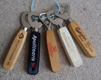 Old wooden handle bottle opener collection / publicity - bottle opener collection - collection d. considered bouteille!